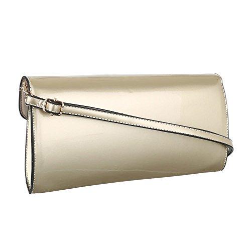Ital-DesignClutch-tasche Bei Ital-design - Bolso de botón Mujer dorado