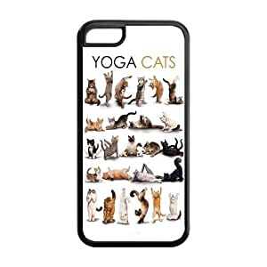 5C Phone Cases, Yoga Cats Hard TPU Rubber Cover Case for iPhone 5C by mcsharks