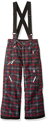 Spyder Boy's Propulsion Ski Pant, Polar Box Plaid Print, Size 12
