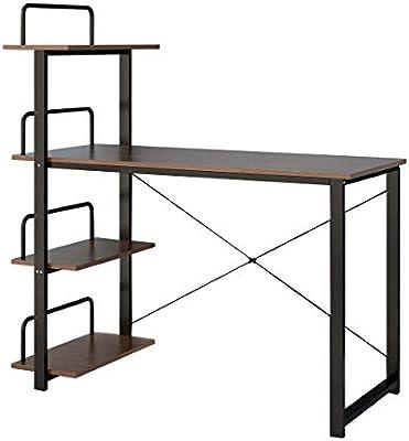 Keinode Mesa de Estudio computadora con Patas de Metal y 4 ...
