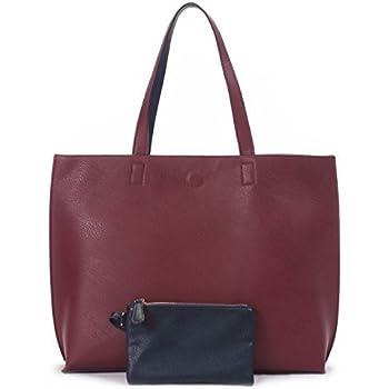 c192d3eaf2cb Amazon.com  Scarleton Trendy Reversible Tote Bag H20180103 - Black ...