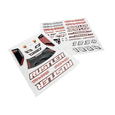 Imachine Traxxas 3716 Decal Sheet Rustler (2): Toys & Games