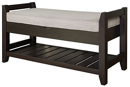 - Lifestyle Turino Storage Bench, Gray