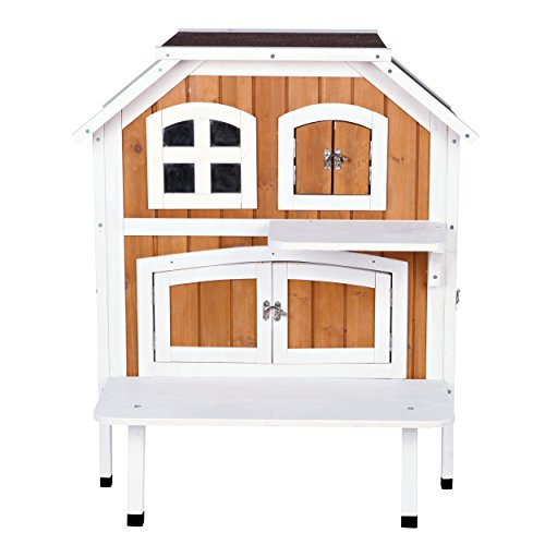 Trixie Pet Products 2-Story Cat Cottage, Brown/White (Story Two Cottage)