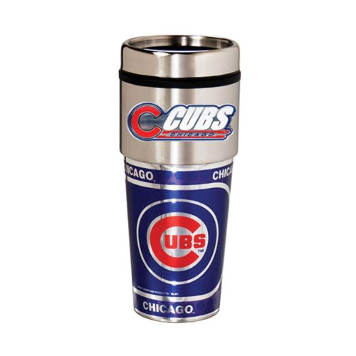 Chicago Cubs 16oz. Stainless Steel Travel Tumbler/Mug