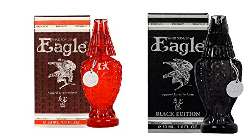 Windsongs Unisex Apparel Perfume Eagle Black, Eagle Red 30 ml (Pack of 2)