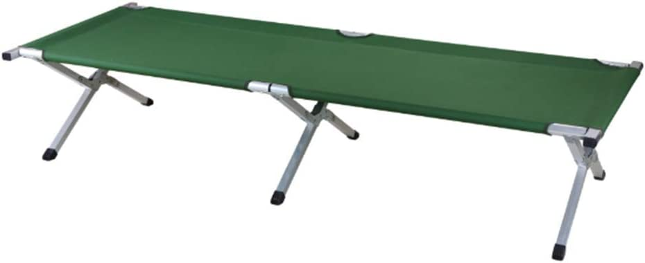 ZHIFENGLIU Cama Plegable De Aluminio para Acampar Portátil, Cama Plegable para Invitados para Acampar Cama Portátil Y Liviana para Uso En Interiores Y Exteriores,Verde,190 * 70 * 42cm