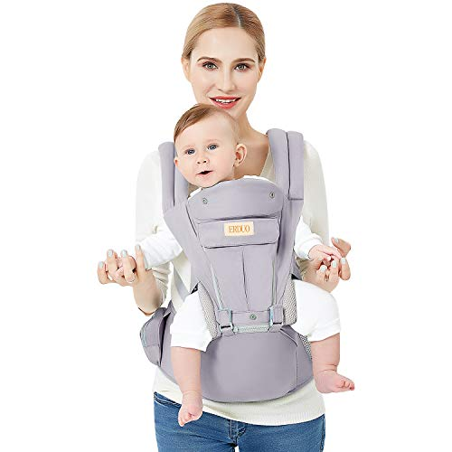 3D Baby Hip Carrier All Season Baby Sling with 9 Carry Positions Truly Hands-Free for Easy Breastfeeding, No Infant Insert Needed, One Size Fits All -Adapt to Newborn, Infant & Toddler, Great Hiking ()
