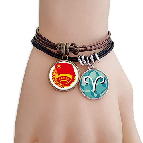 Chinese Communist Youth League Symbol Bracelet Rope Aries Wristband