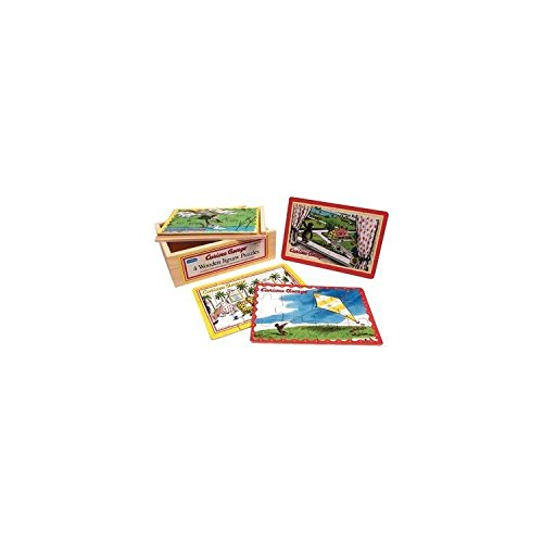 Schylling Curious George. 4 in 1 Jigsaw Puzzle ()