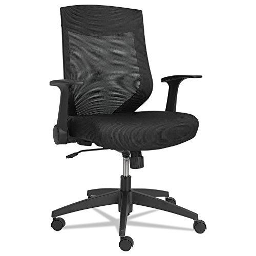 Alera EBK BLACK MESH EB-K Series Synchro Mid-Back Mesh Chair, Black/Black Frame