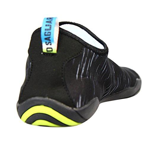 SAGUARO® Unisex zapatos de agua de natación Calzado de Agua Calzado de Surf Calzado de Playa para Los Reyes Magos Negro