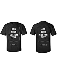 Custom T-shirts Add Design add Your Own Custom Text Name Picture or Message on Your Personalized T-Shirt Unisex T-Shirt Front And Back Print