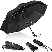 STYNGARD Regenschirm sturmfest bis 140 km/h - Automatik inkl. Schirm-Tasche & Reise-Etui I Taschenschirm mit...