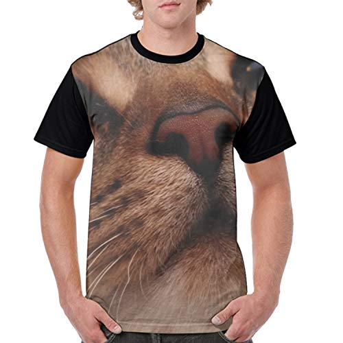farg Kitty Nose Mens T Shirts Graphic Men Tank Tops Beach Tees Blouse ()