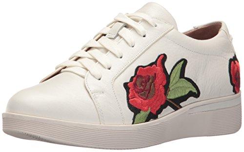 Zachte Zielen Womens Haddie Rose Lage Wig Bloem Borduurwerk Sneaker Wit