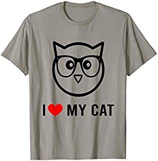 I Love My Cat Funny Cat Lover Gifts T-shirt | Size S - 5XL