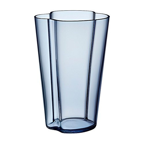 Iittala Alvar Aalto Collection Glass Vase 220 mm, Rain - Iittala Aalto Flower Vase