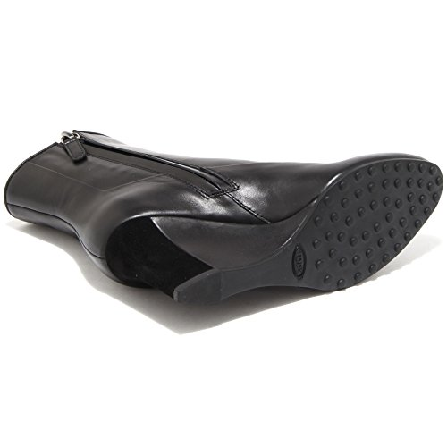Boots Women Zeppa Tronchetto Nero Scarpa Donna Tod's Gomma Stivale 65380 Shoes Strip vE5Sq8S