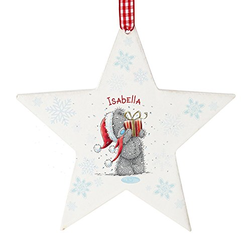 Personalised Christmas Tree Decoration ~ Me To You Tatty Teddy Bear Star Shaped Ornament