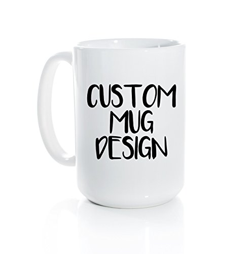 - Custom Coffee Mug - Personalized Coffee Mug - Custom Mug Design - Choose Your Own Text - Custom Gift - Fox and Clover