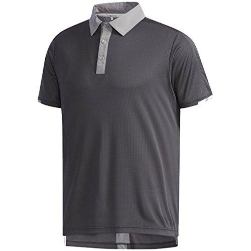アディダス Adidas 半袖シャツ?ポロシャツ CLIMACHILL ソリッド 半袖クレリックポロシャツ カーボン XO
