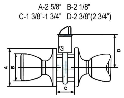 7 PC Dark Oil Rubbed Bronze Passage Door Round Knob Handle (Hall and Closet) 5765DBR