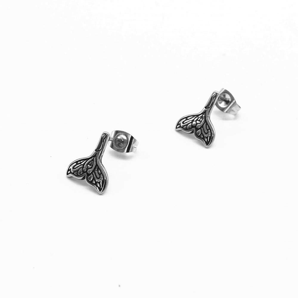 zircon mens earrings. square stud male ear Daeou Mens earrings