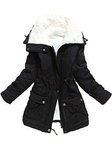 Ecupper Women's Winter Mid Length Thick  - Fur Lined Jacket Shopping Results