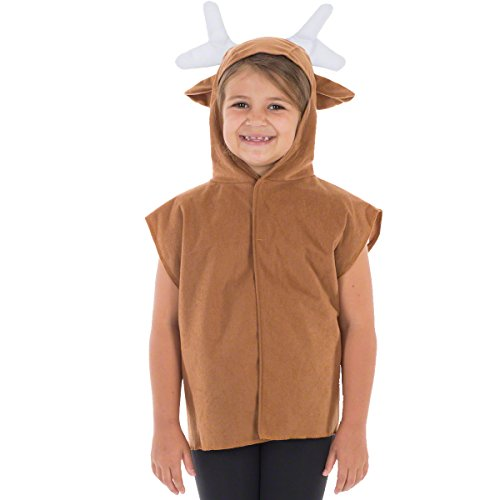 Charlie Crow Reindeer Costume for Kids one Size 3-8 Years Brown]()
