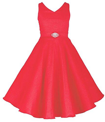 V-Neck Taffeta Wedding Dress - 7
