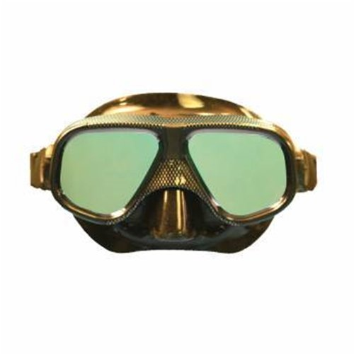 Trident Black Graphite Low Volume Dive Mask With Mirrored Lens