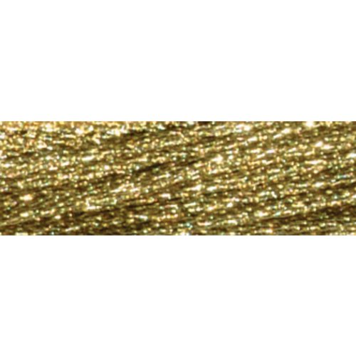 Dmc Light Effects Embroidery Floss - DMC 317W-E3821 Light Effects Polyster Embroidery Floss, 8.7-Yard, Light Gold