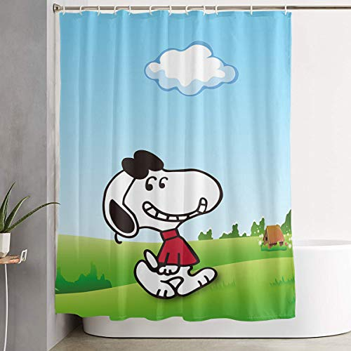 WSXEDC Shower Curtain Snoopy Waterproof Curtain 60 X 72 Inches ()