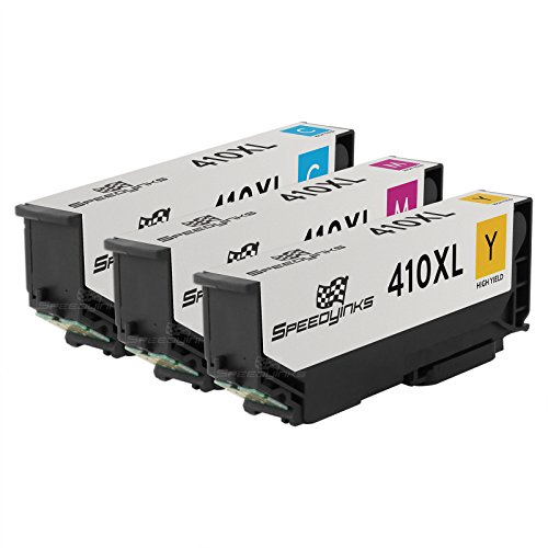 Speedy Inks Remanufactured Ink Cartridge Replacement for Epson 410XL ( Cyan,Magenta,Yellow , 3-pack) by Speedy Inks