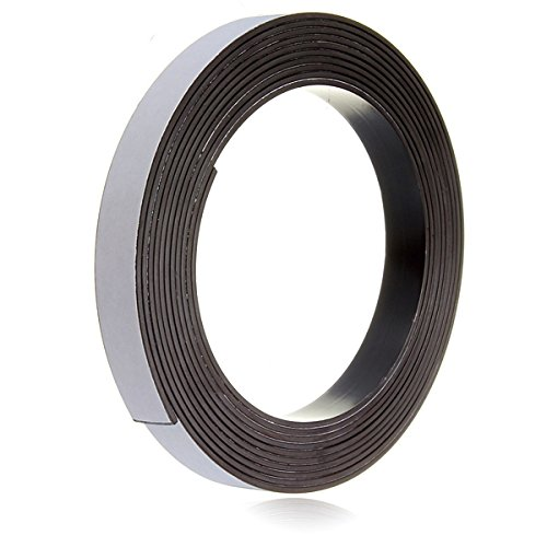 BephaMart 3M Self Adhesive Magnetic Tape Magnet Strip 12.7mm(1/2 inch) Wide BM00001
