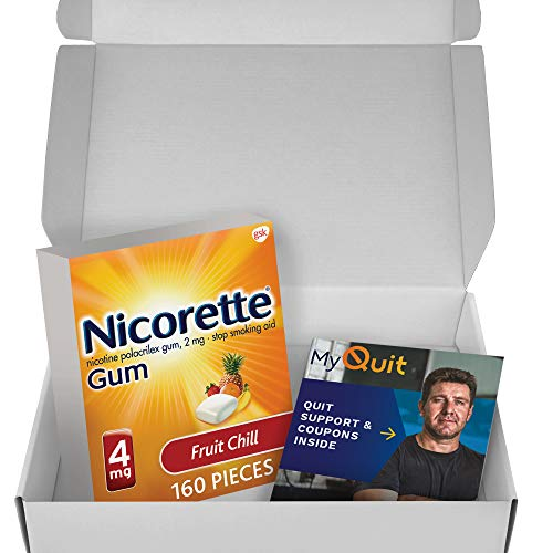 Nicorette Nicotine Gum to Stop Smoking, with Quit Support System- 4mg, Fruit Chill, 160 Count (Pack of 1)