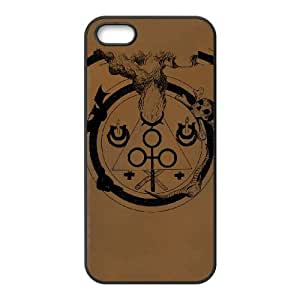 iPhone 5 5s Cell Phone Case Black BLACK CIRCLE Opnkq
