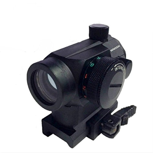 Red Hunting Sight (Tactical Reflex Red Green Dot Sight Scope Riflescope Optic Quick Detach Riser Mount Release Lens Covers Rail Mount Holographic Hunting)