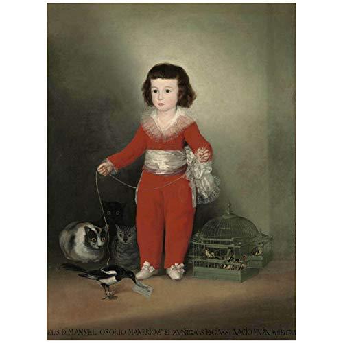 Poster de Francisco de Goya Francisco de Goya y Lucientes, pintura al oleo para sala de estar, decoracion del hogar, regalo, arte, decoracion, impresion en lienzo, 50x75 cm sin marco