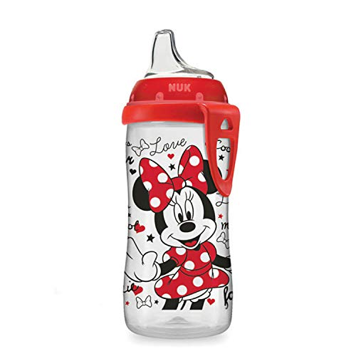 NUK Disney Active Sippy Cup, Minnie Mouse, 10oz 1pk (Nuk Bottles Girl)