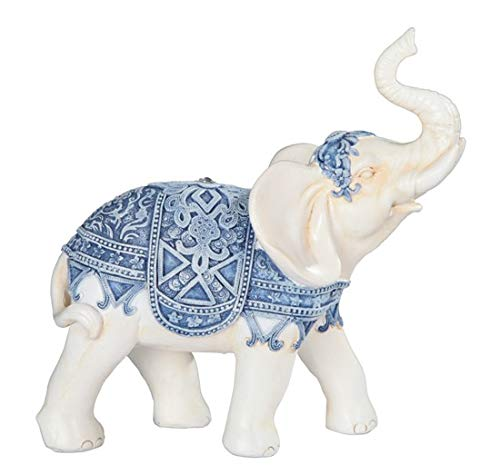 George S. Chen Imports Blue/White Thai Elephant 6