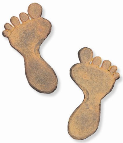 Cheap Foot Print Cast Iron Stepping Stone – 6.5″ x 12″ – Sold in pairs