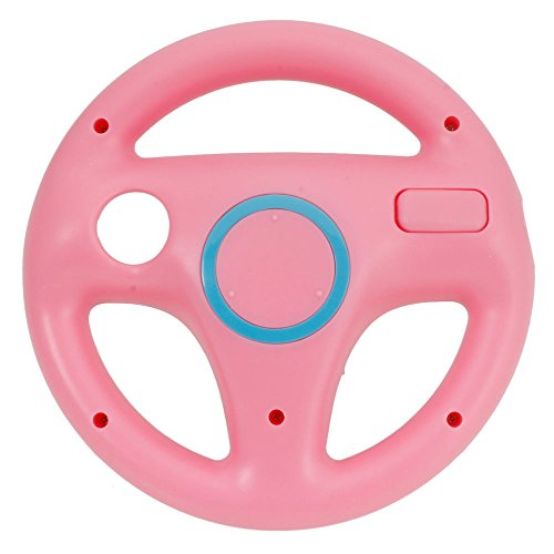 pink-steering-wheel-controller-for-wii-mario-kart-racing-game-controller