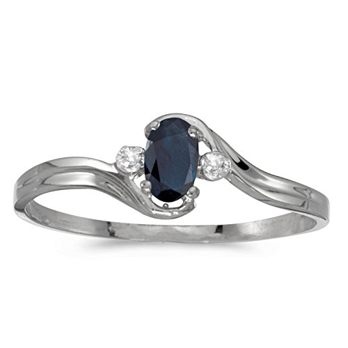 Diamond & Sapphire Bypass Ring - 7