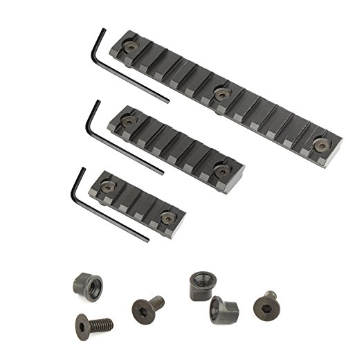 UBOO Keymod Lightweight Picatinny Rail Sections, pack of 3 (5-slot,7-slot,13-slot) Handguard Weaver Rail System with 3 Allen Wrench & Solid-Style for Rail Mount Accessories (Rail Picattiny)