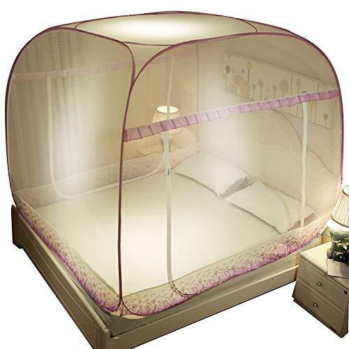ZZYQ Mosquito-Proof Tent, Folding All-Around Mosquito Net, Full-Cover Yurt Fine Mesh Netting, High Elasticity,I,2m