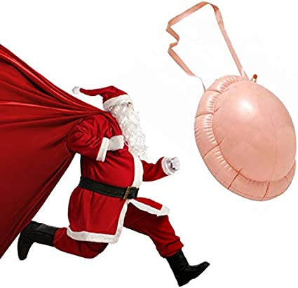 Fake Padded Belly Unisex Belly Stuffer Santa Claus Big Belly for Halloween Christmas Costume Accessory Inflatable Belly Christmas Santa Claus Costume Fake Pregnancy