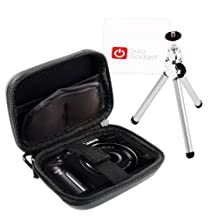 DURAGADGET Ultimate! Starter Kit For The Canon Powershot SX170 IS (Hard Case, Mini-Tripod & Cleaning Cloth)