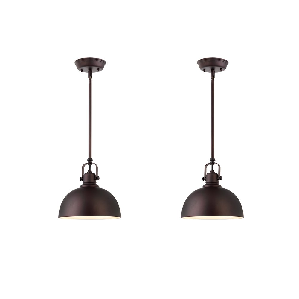 Canarm Luztar Set of 2 Polo 1 Light Pendant -Oil Rubbed Bronze Finish by Canarm